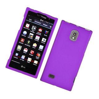 Insten Purple Hard Snap-on Rubberized Matte Case Cover For LG Spectrum II 4G VS930