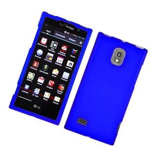Insten Blue Hard Snap-on Rubberized Matte Case Cover For LG Spectrum II 4G VS930