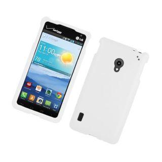 Insten White Hard Snap-on Rubberized Matte Case Cover For LG Lucid 2 VS870