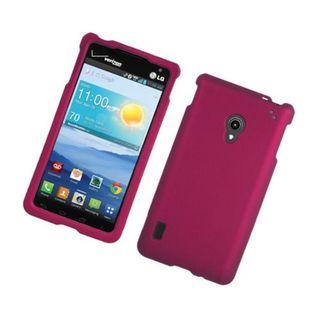 Insten Hot Pink Hard Snap-on Rubberized Matte Case Cover For LG Lucid 2 VS870
