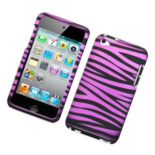 Insten Hot Pink/Black Zebra Hard Snap-on Case Cover For Apple iPod Touch 4th Gen