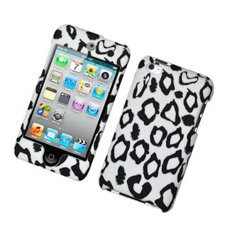 Insten White/Black Leopard Hard Snap-on Case Cover For Apple iPod Touch 4th Gen
