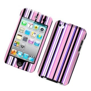 Insten Multi-Color Stripes Hard Snap-on Case Cover For Apple iPod Touch 4th Gen