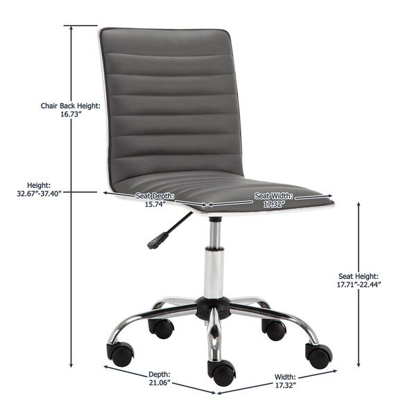 Terrific Shop Porthos Home Adjustable Lindsey Office Chair Free Theyellowbook Wood Chair Design Ideas Theyellowbookinfo
