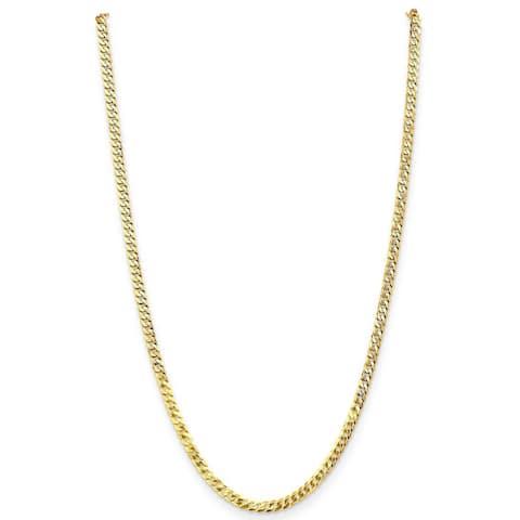 14K Yellow Gold Polished 4.5mm Beveled Curb Bracelet by Versil
