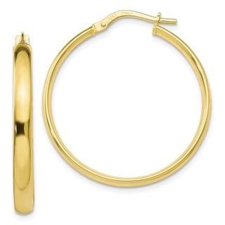 Link to 10K Yellow Gold Polished Lightweight Hoop Earrings by Versil Similar Items in Earrings