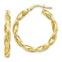 Versil 10 Karat Polished Twisted Hoop Earrings