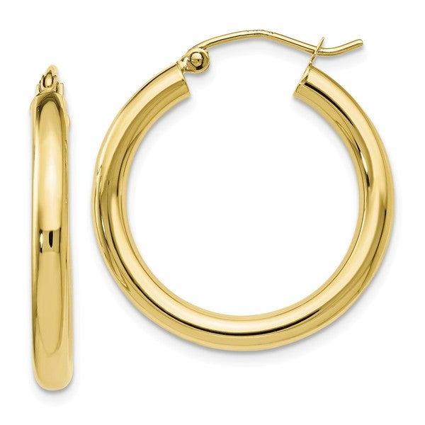 Shop Versil 10 Karat Yellow Gold Polished Hinged Hoop Earrings