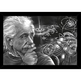 Einstein Quazar Poster in Choice of Frame (24x36)