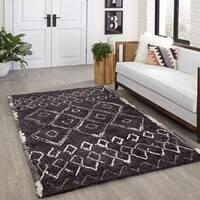 Momeni Margaux Black Tufted Rug (9' X 12') - 9' x 12'