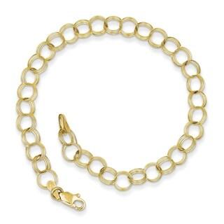 10 Karat Triple Link Charm Bracelet (2 options available)