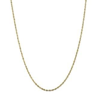 10 Karat 1.8mm Diamond Cut Extra-Lite Rope Chain