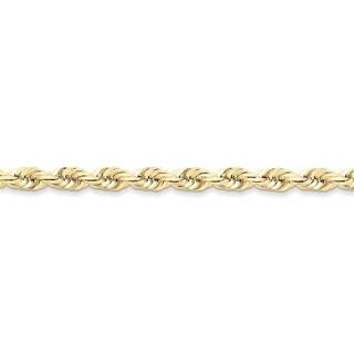 10 Karat 6mm Handmade D/C Rope Chain (3 options available)