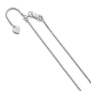 Versil Sterling Silver 11 Inch Adjustable Box Chain