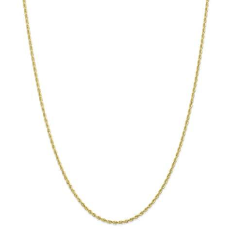 10K Yellow Gold 2mm Diamond Cut Quadruple 10-inch Rope Chain by Versil