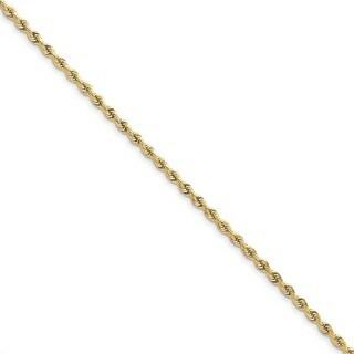 10 Karat 3.35mm Diamond Cut Quadruple Rope Chain (2 options available)