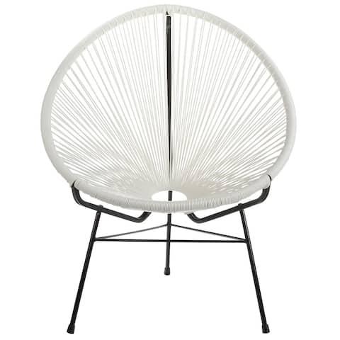 Handmade Acapulco Woven Basket Lounge Chair