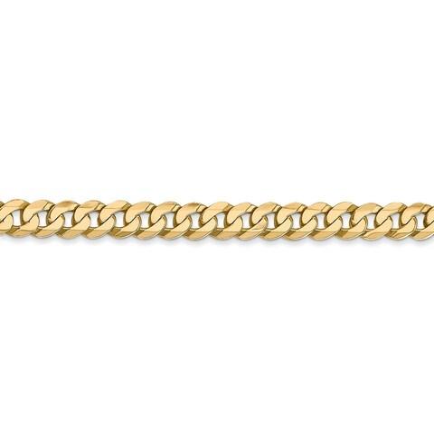 14 Karat 4.5mm Beveled Curb Bracelet