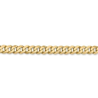 Versil 14 Karat 4.5mm Beveled Curb Bracelet