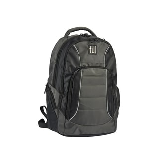 Ful Ace Black/Grey Padded 15-inch Laptop Backpack