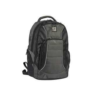 Ful Ace Black/ Grey Padded Laptop Backpack for up to 15-inch Laptops,