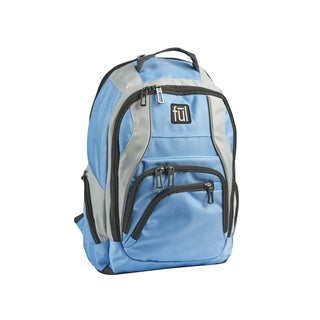 Ful Dax Light Blue Padded 15-inch Laptop Backpack
