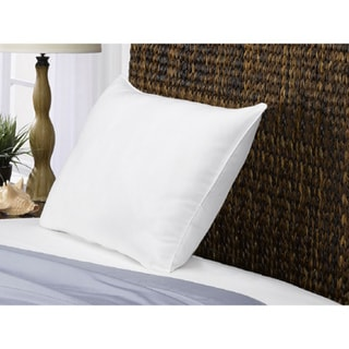 White Goose Down FIRM Overstuffed Pillow for Side/Back Sleepers