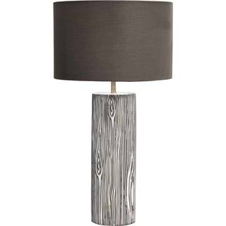 Mercana Esquival White/ Brown Ceramic Table Lamp