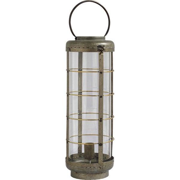 Mercana Alston II Grey Metal Lantern Style Lamp