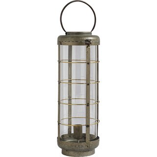 Mercana Alston II Grey Metal Lantern Style Lamp