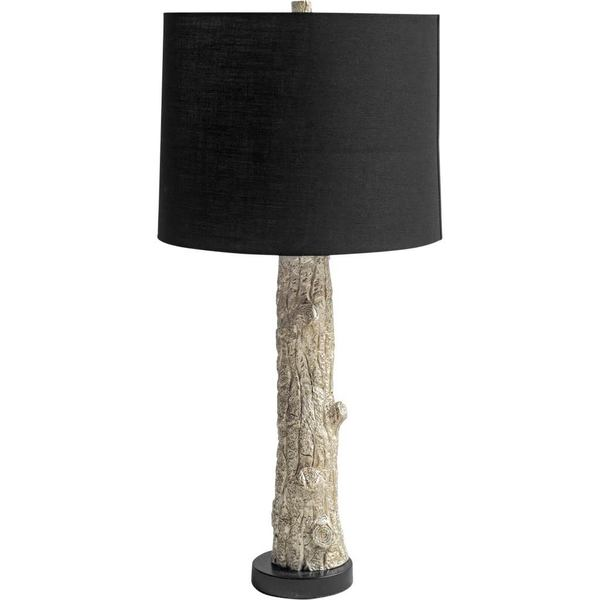 Mercana Arbor III Black Fabric Shade Tree Trunk Table Lamp