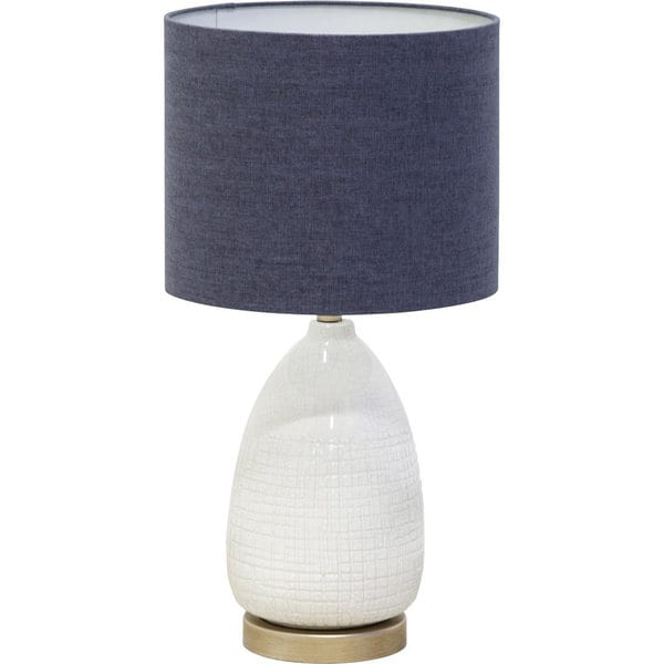 Mercana Byron White Ceramic Table Lamp