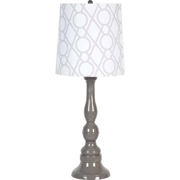 Mercana Rothesay Grey Fabric Table Lamp