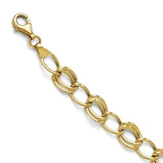 10 Karat  Yellow Gold Flat Curb Link Bracelet