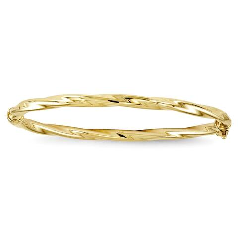 10 Karat Yellow Gold Twisted Bangle by Versil