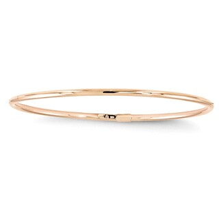10 Karat Rose Gold Slip-On Bangle