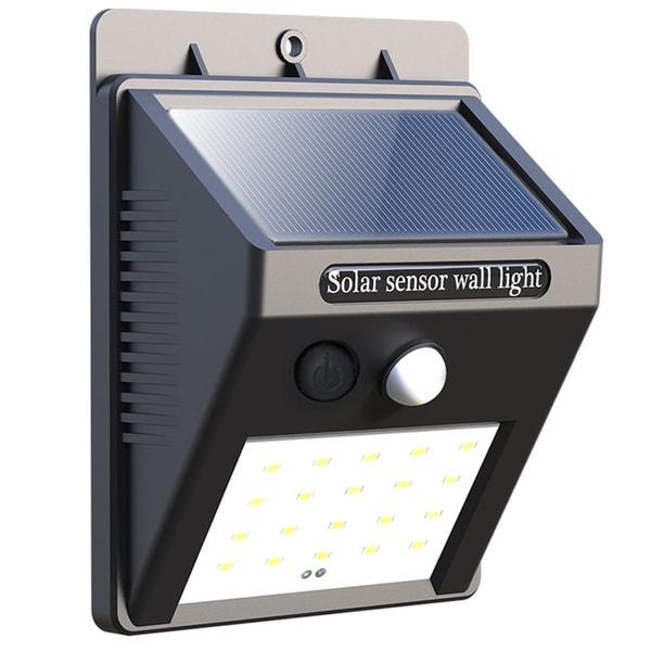 20 LED Solar Powered PIR Motion Sensor Light Waterproof Outdoor Garden Fence Patio Security Wall Lamp Night
