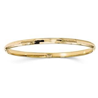 10 Karat Gold Polished Bangle