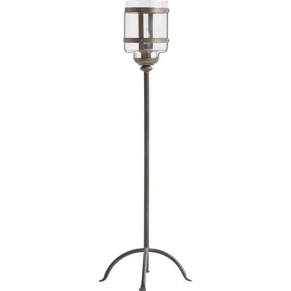 Mercana Diende II Grey Metal Torch Style Floor Lamp