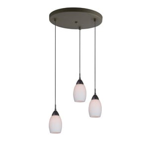 Woodbridge Lighting 13224-C20401 Venezia Opal 3-Light Cluster