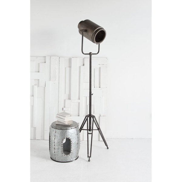 Mercana Debdou Grey Metal Floor Lamp