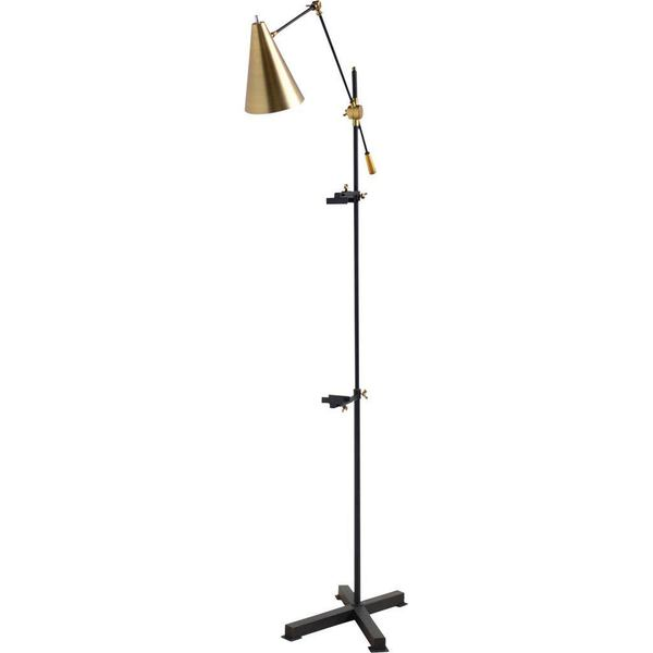 Mercana Montague Black Metal Floor Lamp