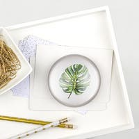 Palm Domed Glass Paperweight