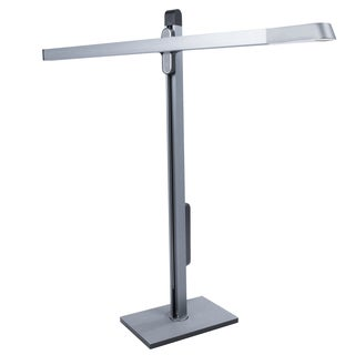 LumiSource Spire Silver Metal Adjustable LED Table Lamp