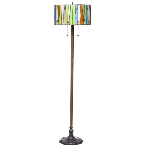 Serena d'italia Tiffany-style Drum Contemporary Floor Lamp