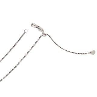 14 Karat White Gold 1.2 mm Adjustable Rope