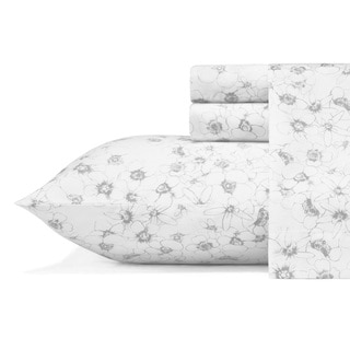 Vera Wang Linear Floral Cotton Sheet Set