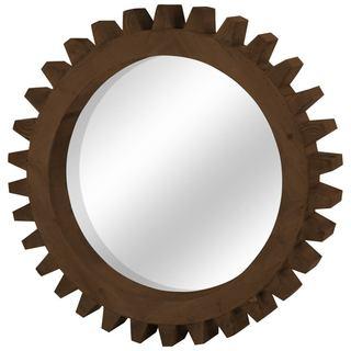 Mercana Cog Mirror II Brown Wood Mirror