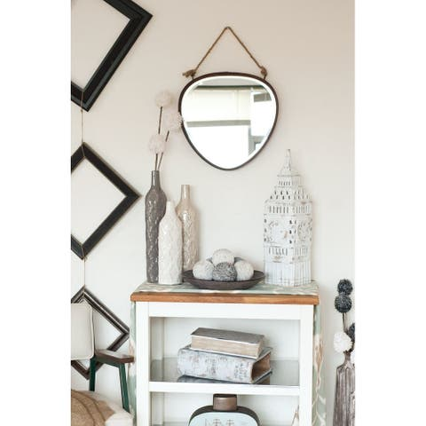 Mercana Morsey III Brown Metal Mirror - A