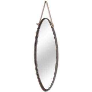 Mercana Hanley Brown Oval Hanging Mirror